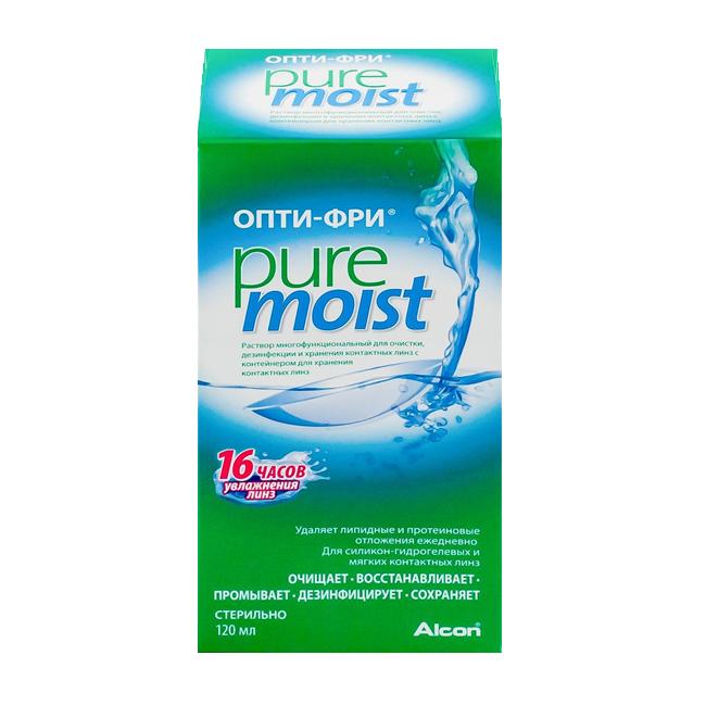 Опти-Фри Pure Moist (120мл) + контейнер